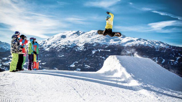 snowpark hochzeiger winter ski snowboard